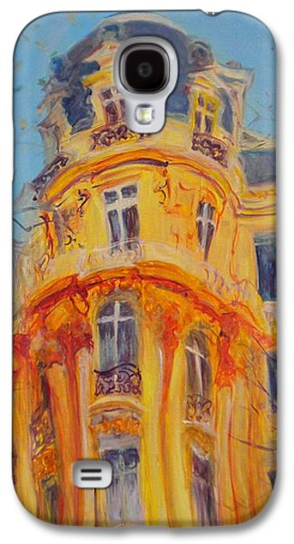 Facade Galaxy S4 Cases - A Walk Up The Champs-elysees, 2010 Oil On Canvas Galaxy S4 Case by Antonia Myatt