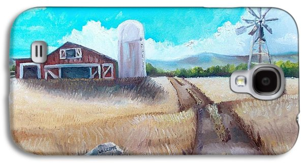 Old Maine Barns Galaxy S4 Cases - A Warm Welcome Galaxy S4 Case by Shana Rowe