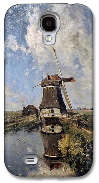 Gabriel Galaxy S4 Cases - A Windmill On A Polder Waterway, Known As In The Month Of July, C. 1889, By Paul Joseph Constantin Galaxy S4 Case by Bridgeman Images