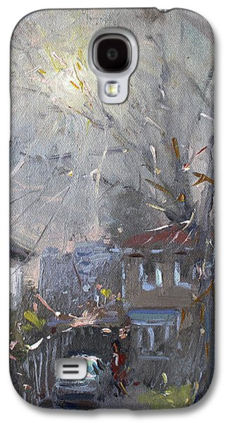 Cold Paintings Galaxy S4 Cases - A Hazy Winter Day Galaxy S4 Case by Ylli Haruni