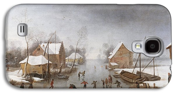 Winter Wonderland Galaxy S4 Cases - A Winter River Landscape Galaxy S4 Case by Jan Wildens