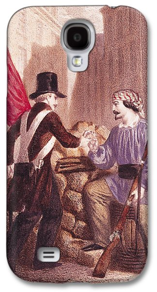 Bayonet Galaxy S4 Cases - A Worker Sharing his Bread with a Student Carrying a Red Flag Galaxy S4 Case by Georges Alexandre Fischer