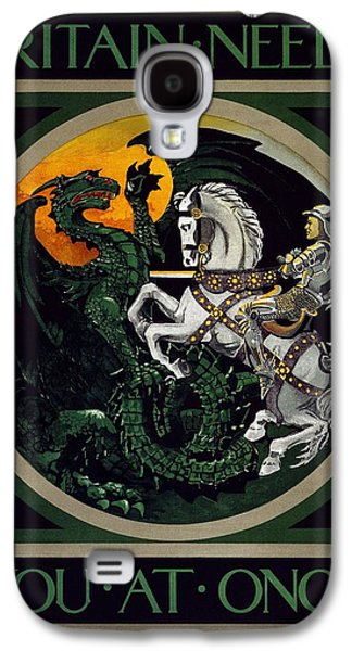 Wwi Paintings Galaxy S4 Cases - A WWI British recruitment poster Galaxy S4 Case by Celestial Images