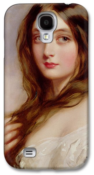 Woman In A Dress Galaxy S4 Cases - A young girl in a white dress Galaxy S4 Case by Richard Buckner