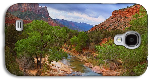 Southwest Landscape Galaxy S4 Cases - A Zion Morning Galaxy S4 Case by Darren  White