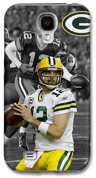 Sports Photographs Galaxy S4 Cases - Aaron Rodgers Packers Galaxy S4 Case by Joe Hamilton