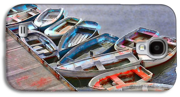 Row Boat Digital Galaxy S4 Cases - Abandoned Boats Galaxy S4 Case by Daniel Hagerman