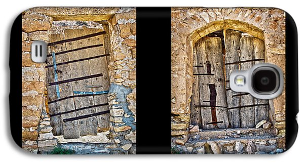 Wooden Door Galaxy S4 Cases - Abandoned diptych Galaxy S4 Case by Delphimages Photo Creations