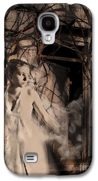 Fantasy Photographs Galaxy S4 Cases - Fantasy- Abandoned House - Even The Last Ghost Left Galaxy S4 Case by Feryal Faye Berber