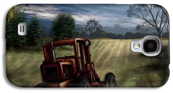 Machinery Galaxy S4 Cases - Abandoned Tractor Galaxy S4 Case by Ron Grafe