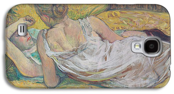 Sadness Paintings Galaxy S4 Cases - Abandonment Galaxy S4 Case by Henri de Toulouse-Lautrec