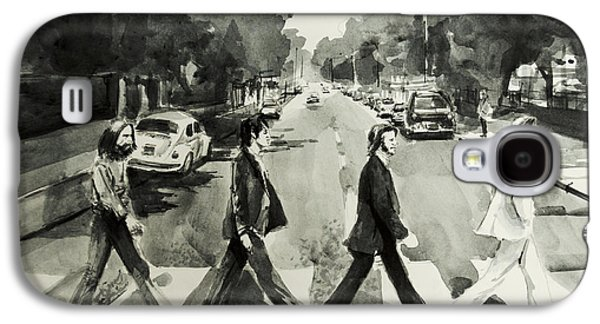 Beatles Drawings Galaxy S4 Cases - Abbey Road Galaxy S4 Case by MB Art factory