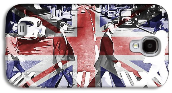 Recently Sold -  - Beatles Galaxy S4 Cases - Abbey Road Union Jack Galaxy S4 Case by Dan Sproul