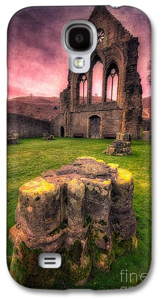 Fall Grass Galaxy S4 Cases - Abbey Ruin Galaxy S4 Case by Adrian Evans