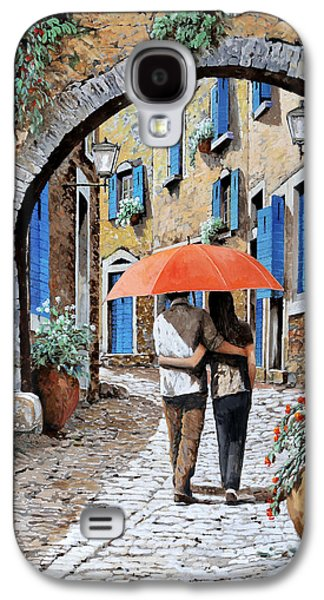 Street Paintings Galaxy S4 Cases - Abbracciati Sotto Larco Galaxy S4 Case by Guido Borelli