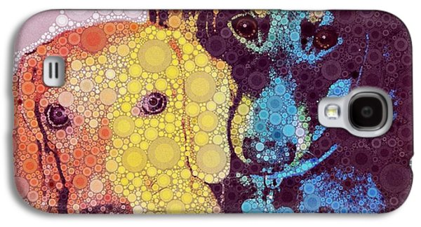 Dachshund Puppy Digital Art Galaxy S4 Cases - Abby and Simon Galaxy S4 Case by Cindy Edwards