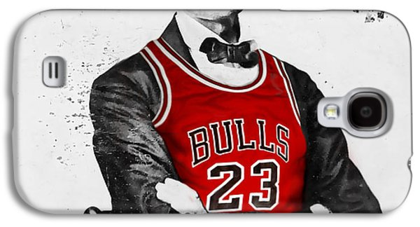 Abraham Lincoln Galaxy S4 Cases - Abe Lincoln in a Bulls Jersey Galaxy S4 Case by Roly Orihuela