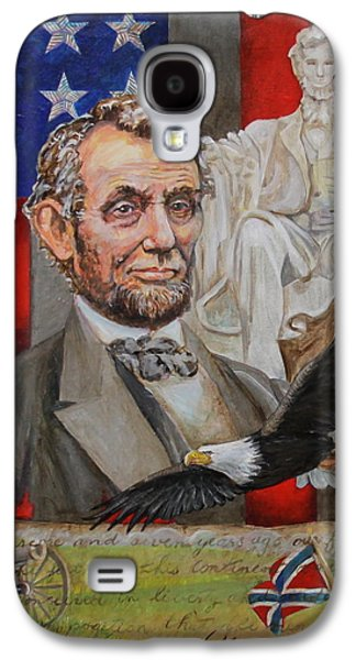 Statue Portrait Galaxy S4 Cases - Abraham Lincoln  Galaxy S4 Case by Jan Mecklenburg