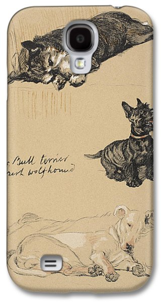 Aberdeens, Bull Terrier And Irish Galaxy S4 Case by Cecil Charles Windsor Aldin
