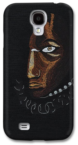 Portraits Tapestries - Textiles Galaxy S4 Cases - Aboriginal Woman Galaxy S4 Case by Jo Baner