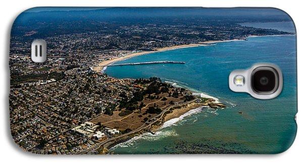 Steamer Lane Galaxy S4 Cases - Above Santa Cruz California Looking East Galaxy S4 Case by Randy Straka