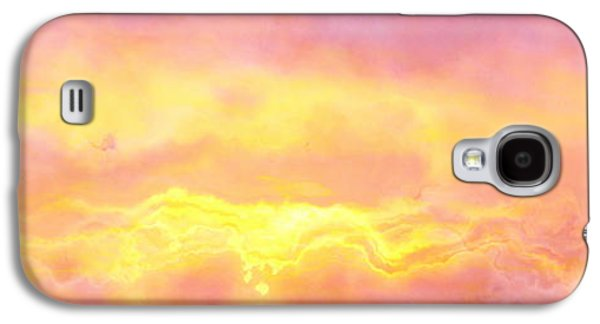 Sunset Abstract Digital Galaxy S4 Cases - Above The Clouds - Abstract Art Galaxy S4 Case by Jaison Cianelli