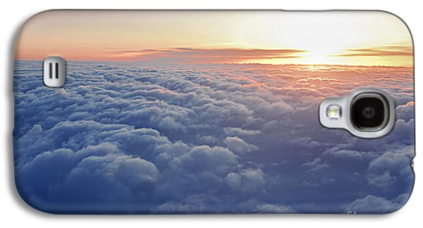 Airliner Galaxy S4 Cases - Above the clouds Galaxy S4 Case by Elena Elisseeva