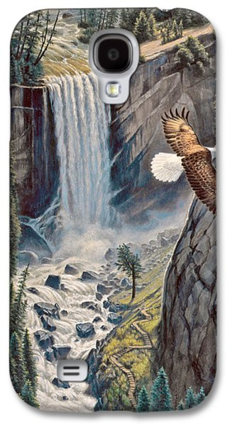 Eagle Paintings Galaxy S4 Cases - Above The Falls - Vernal Falls Galaxy S4 Case by Paul Krapf