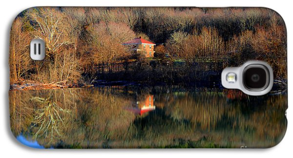 River Scenes Photographs Galaxy S4 Cases - Above The Waterfall Reflection Galaxy S4 Case by Michael Eingle