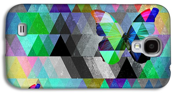 Surreal Geometric Galaxy S4 Cases - Abracadabra  Galaxy S4 Case by Mark Ashkenazi