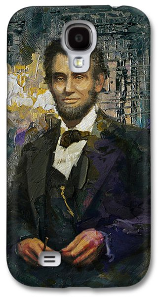Republican Paintings Galaxy S4 Cases - Abraham Lincoln 01 Galaxy S4 Case by Corporate Art Task Force