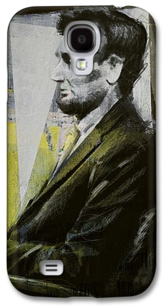 Republican Paintings Galaxy S4 Cases - Abraham Lincoln 03 Galaxy S4 Case by Corporate Art Task Force