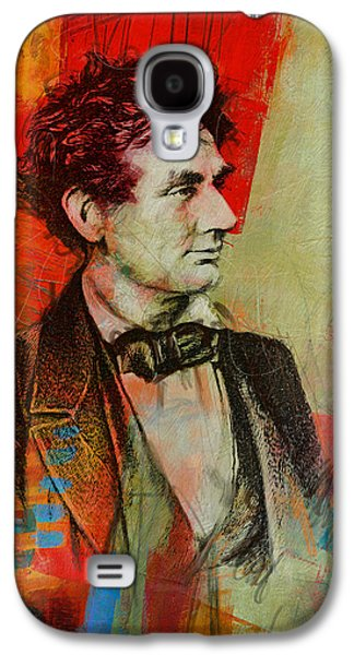 Republican Paintings Galaxy S4 Cases - Abraham Lincoln 04 Galaxy S4 Case by Corporate Art Task Force