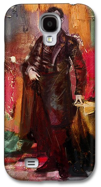 Politician Paintings Galaxy S4 Cases - Abraham Lincoln 05 Galaxy S4 Case by Corporate Art Task Force