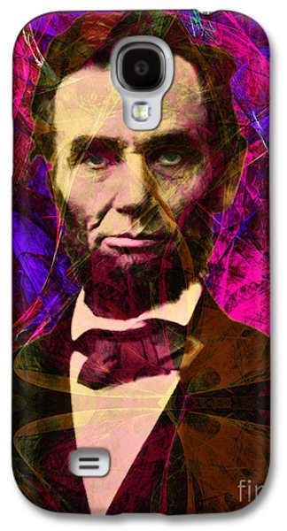 4th July Galaxy S4 Cases - Abraham Lincoln 2014020502m68 Galaxy S4 Case by Wingsdomain Art and Photography
