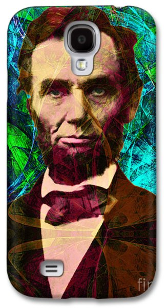 Slavery Digital Art Galaxy S4 Cases - Abraham Lincoln 2014020502p145 Galaxy S4 Case by Wingsdomain Art and Photography