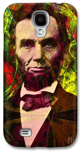 4th July Galaxy S4 Cases - Abraham Lincoln 2014020502p28 Galaxy S4 Case by Wingsdomain Art and Photography