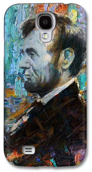 Republican Paintings Galaxy S4 Cases - Abraham Lincoln 6 Galaxy S4 Case by Corporate Art Task Force