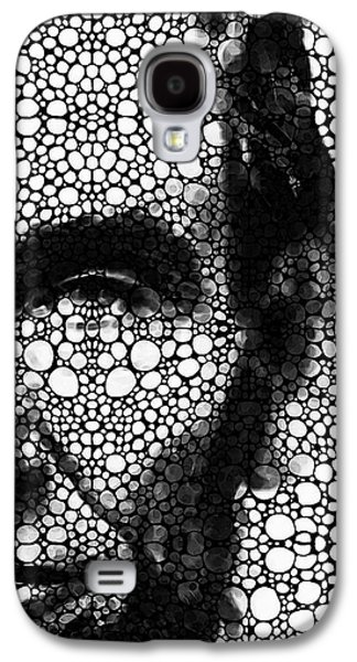 Slavery Digital Art Galaxy S4 Cases - Abraham Lincoln - An American President Stone Rockd Art Print Galaxy S4 Case by Sharon Cummings