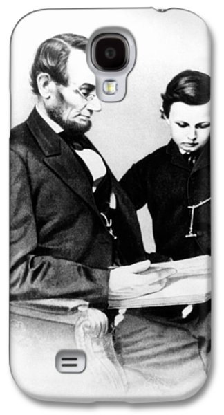 Historical Figures Galaxy S4 Cases - Abraham Lincoln and Tad Galaxy S4 Case by Anonymous