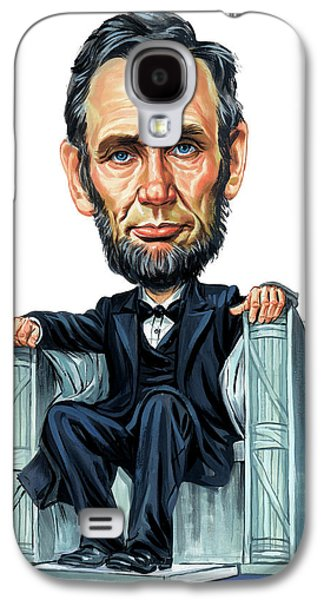 Abraham Lincoln Galaxy S4 Cases - Abraham Lincoln Galaxy S4 Case by Art
