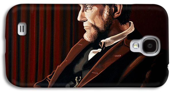 Slavery Galaxy S4 Cases - Abraham Lincoln by Daniel Day-Lewis Galaxy S4 Case by Paul Meijering