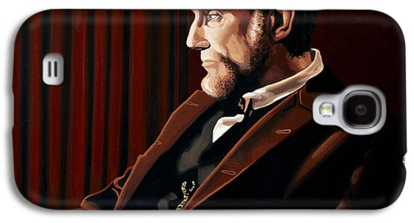 Abraham Lincoln Galaxy S4 Cases - Abraham Lincoln by Daniel Day-Lewis Galaxy S4 Case by Paul Meijering