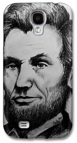 Abolition Drawings Galaxy S4 Cases - Abraham Lincoln Galaxy S4 Case by Catherine Howley