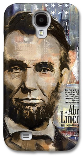 Personality Galaxy S4 Cases - Abraham Lincoln Galaxy S4 Case by Corporate Art Task Force