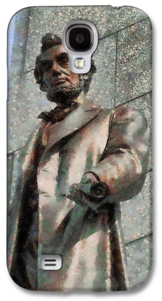 Government Mixed Media Galaxy S4 Cases - Abraham Lincoln Galaxy S4 Case by Dan Sproul