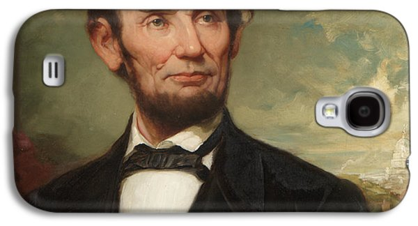 Politician Paintings Galaxy S4 Cases - Abraham Lincoln  Galaxy S4 Case by George Henry Story