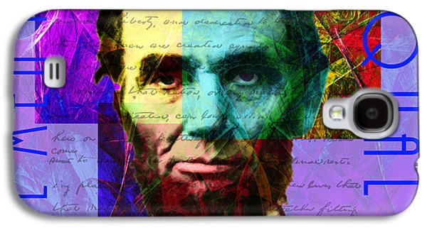 Slavery Digital Art Galaxy S4 Cases - Abraham Lincoln Gettysburg Address All Men Are Created Equal 2014020502m128 Galaxy S4 Case by Wingsdomain Art and Photography