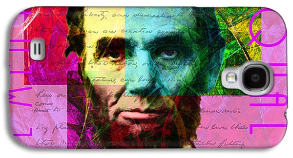 Slavery Digital Art Galaxy S4 Cases - Abraham Lincoln Gettysburg Address All Men Are Created Equal 2014020502m68 Galaxy S4 Case by Wingsdomain Art and Photography