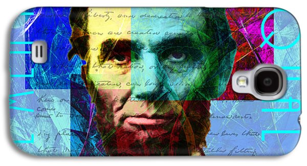 Slavery Digital Art Galaxy S4 Cases - Abraham Lincoln Gettysburg Address All Men Are Created Equal 2014020502p180 Galaxy S4 Case by Wingsdomain Art and Photography